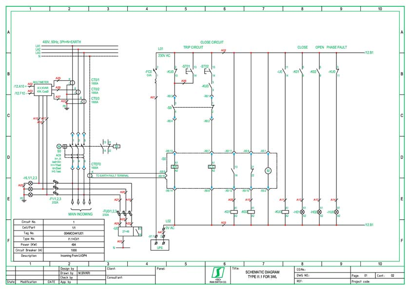 Electrical drawing sample