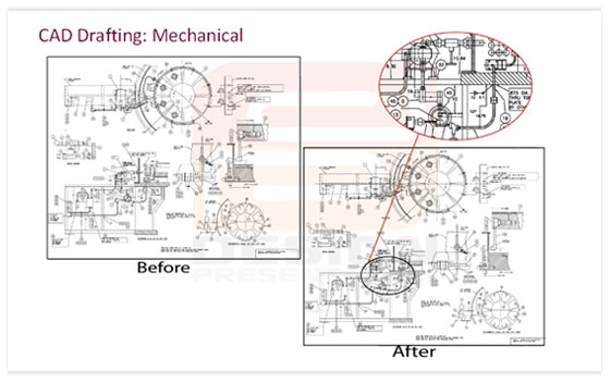 Mechanical Engineering Drawing Mechanical Drafting Services