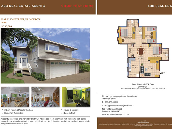 Real Estate Brochure Samples