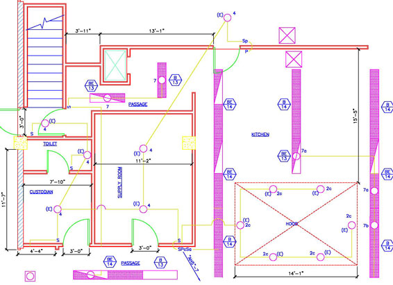 electrical plans and panel layouts